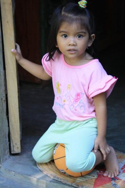 Khim Sitting on Her New Ball
