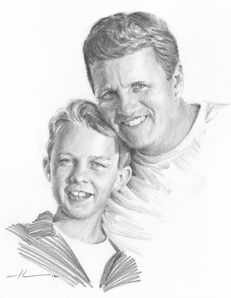 father son drawing mike theuer