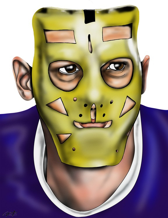 Los Angeles Kings Goalie Mask Terry Sawchuk