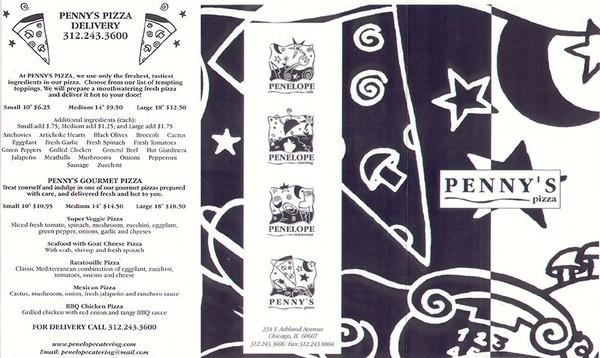 Penny's Pizza menu