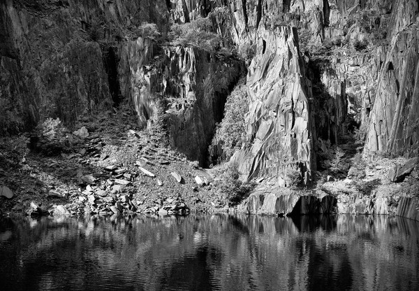 Reflections and Contrast in an Old Quarry