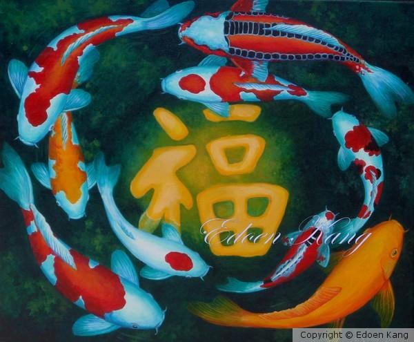 Auspicious Koi Pond Series 8