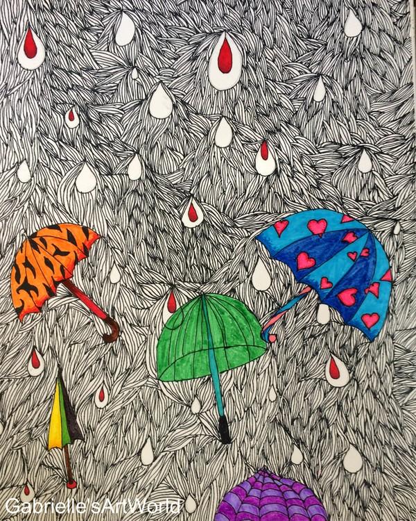 Red Rain Drops