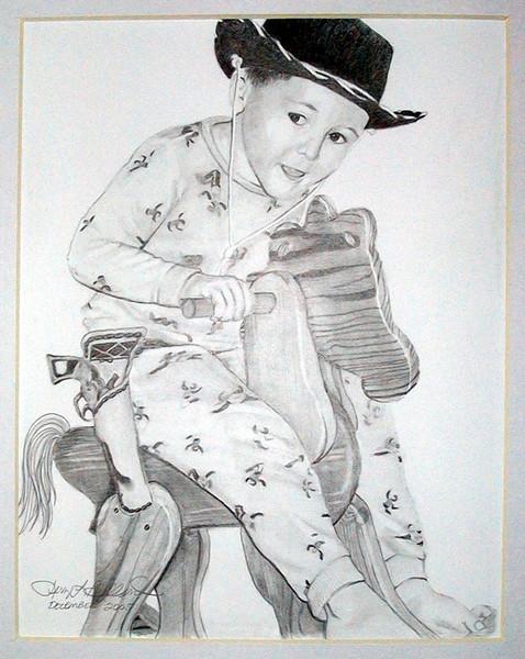 Cameron on Pony