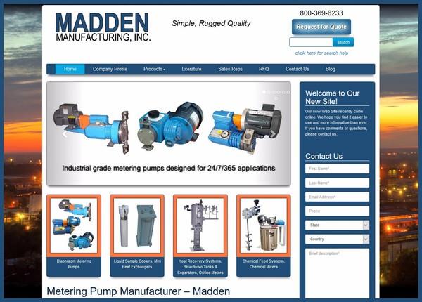Madden Manufacturing Website