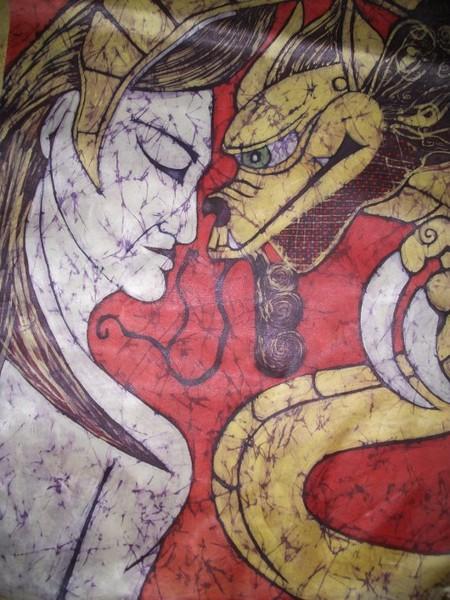 a dama e o dragão