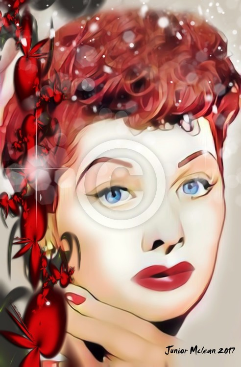 Artwork of The Queen of Comedy Lucille Ball