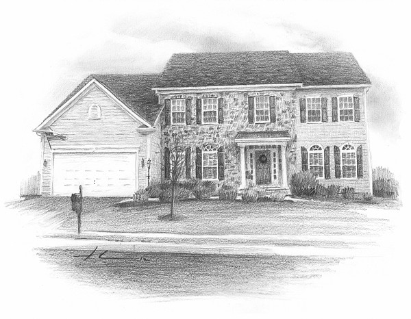 house drawing mike theuer