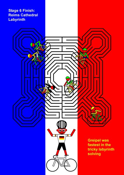 tour de france 2014 stage 6 reims cathedral labyrinth