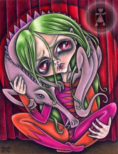 StrangeGirl and her Pet SomeThing