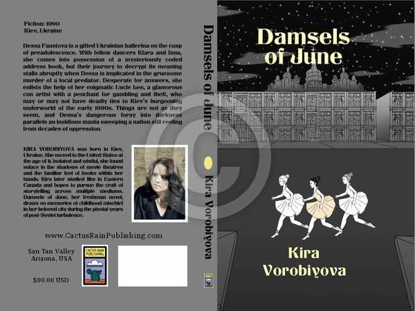 Mock up Book Cover art Design Dansels of June