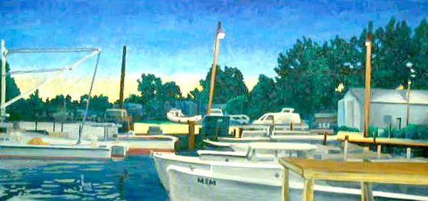Boats #2, Marina at evening