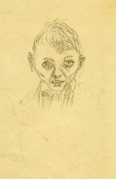 Selfportrait Hal Jos at age 7 yrs