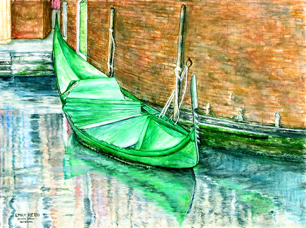 The Green Gondola (Painting)