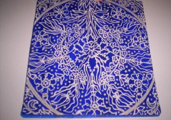 Mandala Liquid Glass Painting