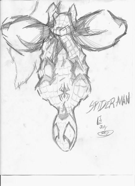 Spiderman: Just hanging