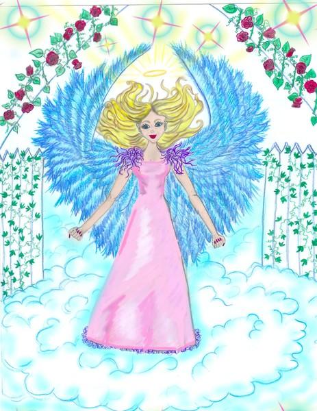Angel at heaven's gate
