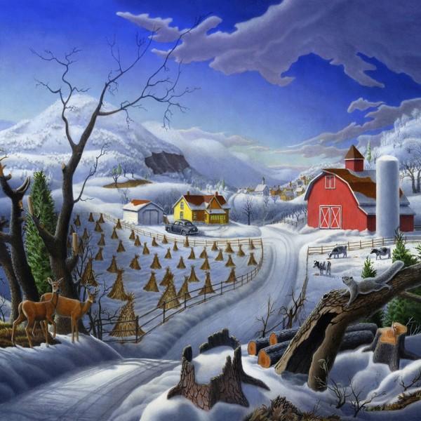 Rural Winter Landscape - Square Format