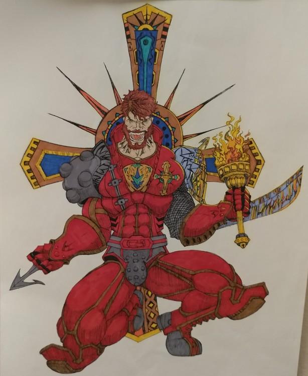 Crusader w/ color