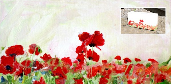 Poppy on Canvas Block