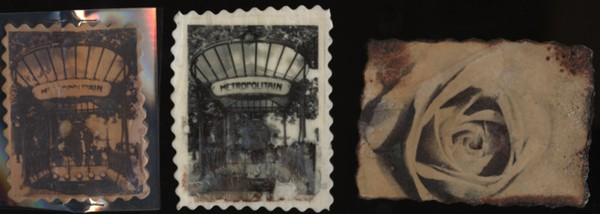 CLAY IMAGE TRANSFER Paris Metro Rose Composition