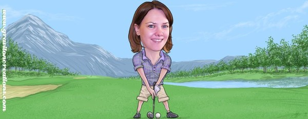Jenny Golfing