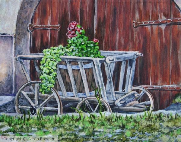 Flower Cart $100