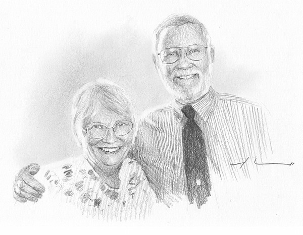 artist couple drawing