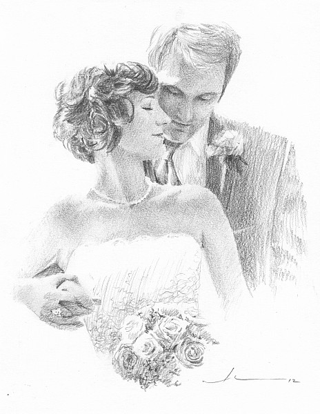 newlyweds drawing mike theuer