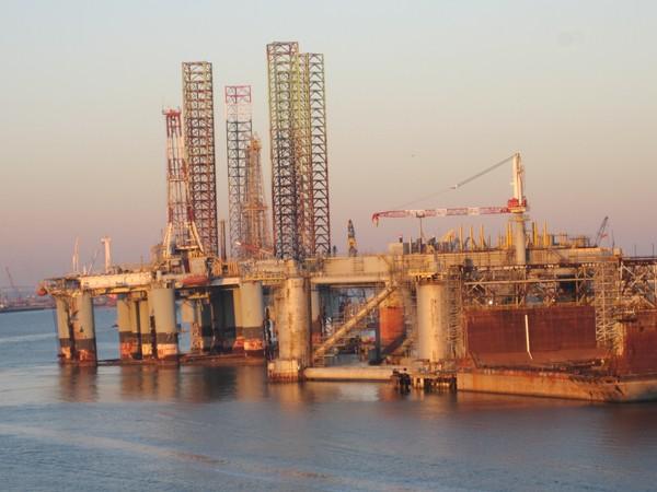 Galveston, TX Port Towers for BP Oil Spill