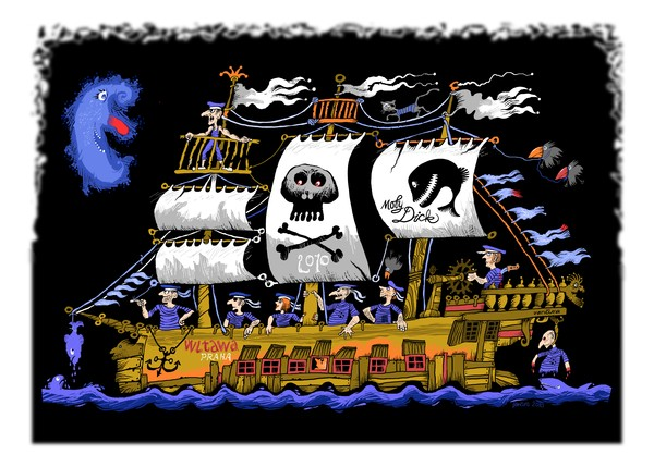 pirate's ship Moby Dick