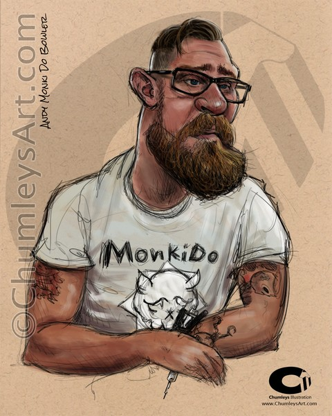 Andy Monki Do Bowler Caricature