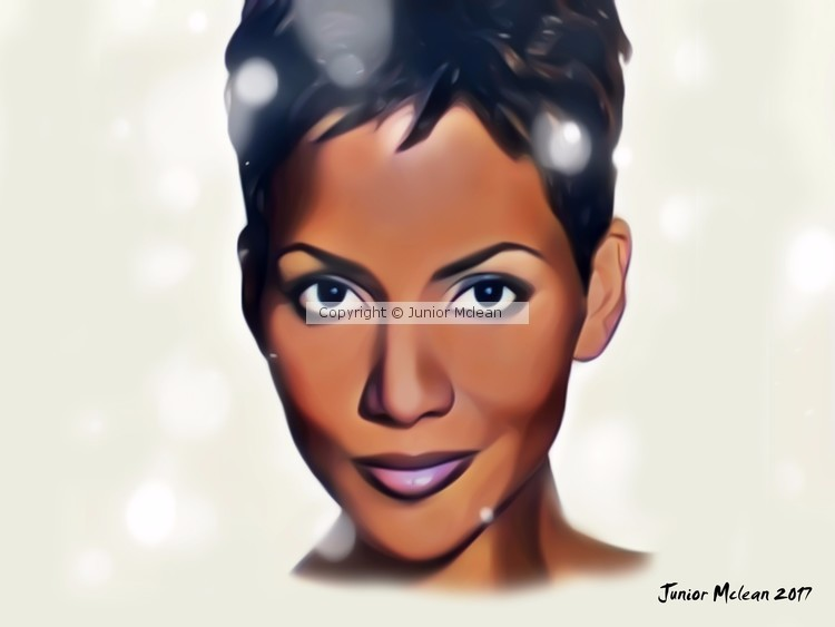 Halle Berry Artwork 2017