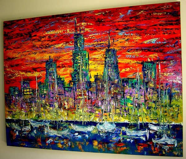 Chicago painting by Eugenia Abramson