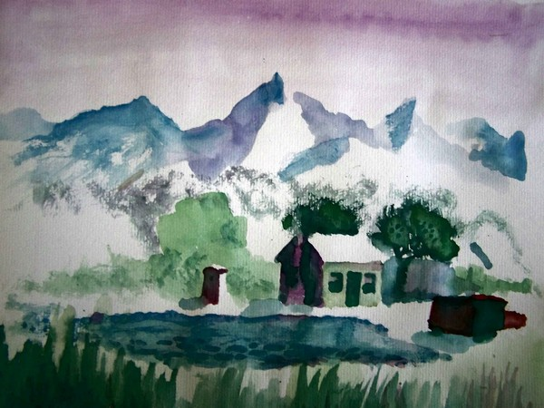 House With Mountains In The Background