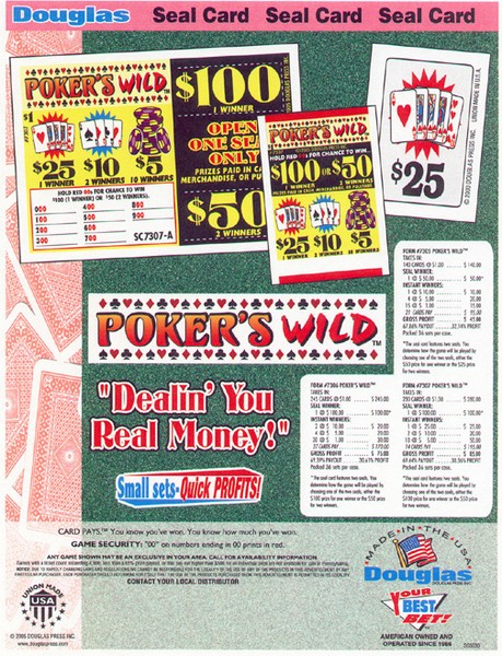 Poker's Wild game &  ad