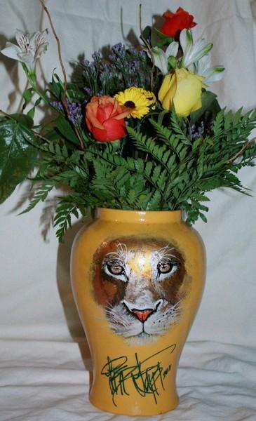Lion Vase