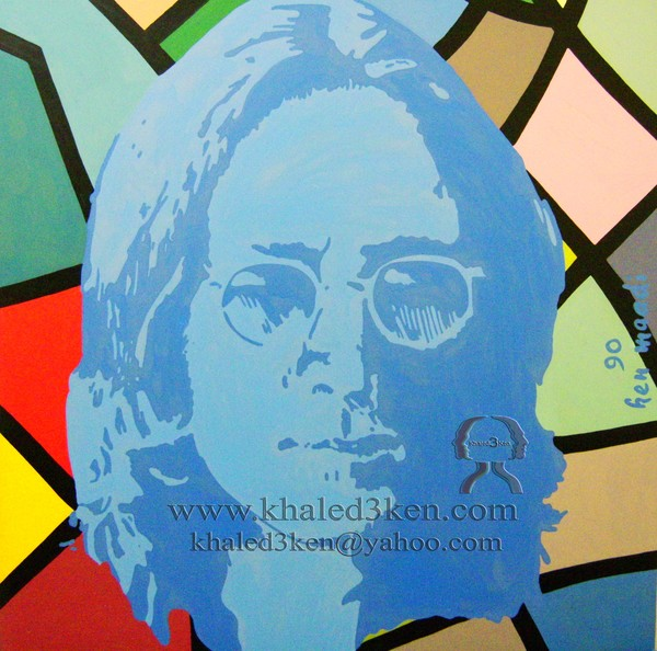 DRAWING PORTRAIT JOHN LENNON AND BEATLES LIFE STORY AND MARK DAVID CHAPMAN KHALED3KEN (4)