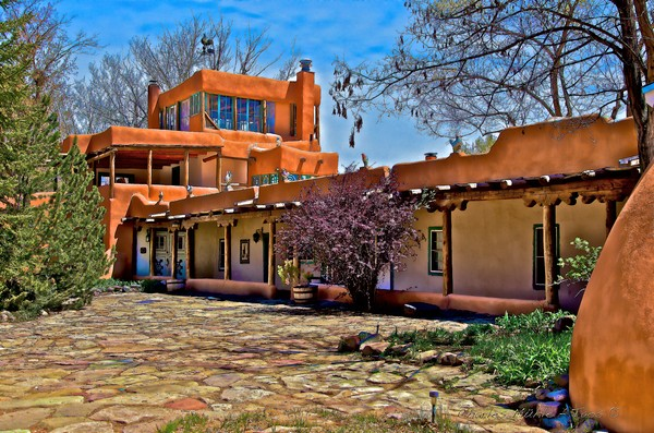 Mabel Dodge Luhan's courtyard