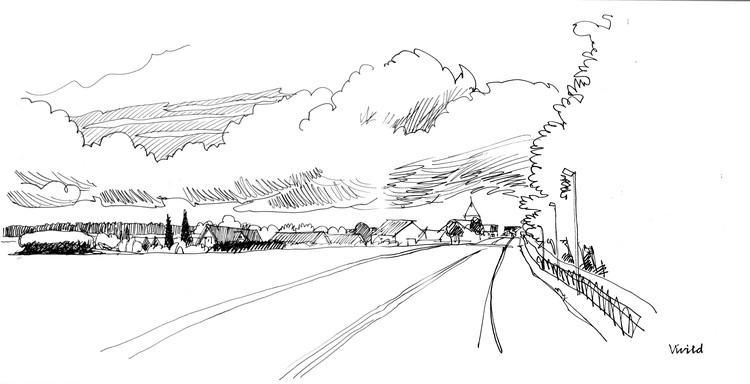 Drawing the outskirts of the small village Vivild