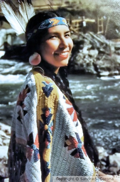 Smiling Lady at Warm Springs Indian Reservation OR
