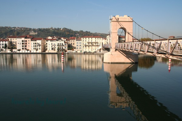 Bridge over the Rhone River in Vienne