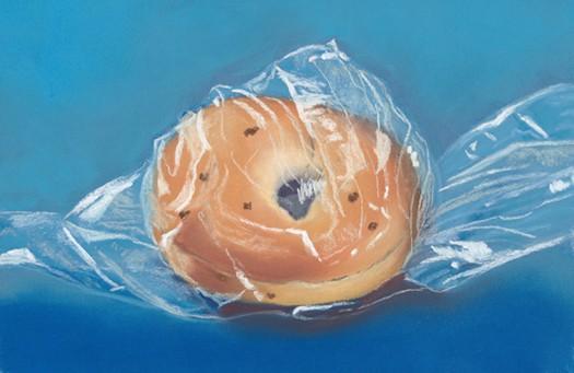 onion bagel in a bag