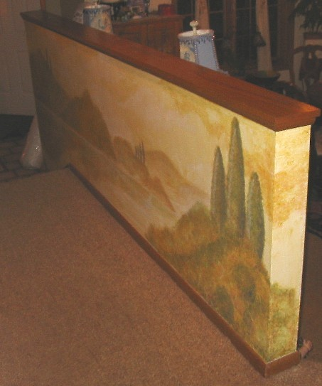 Mural - Italian Countryside -wall in entry way