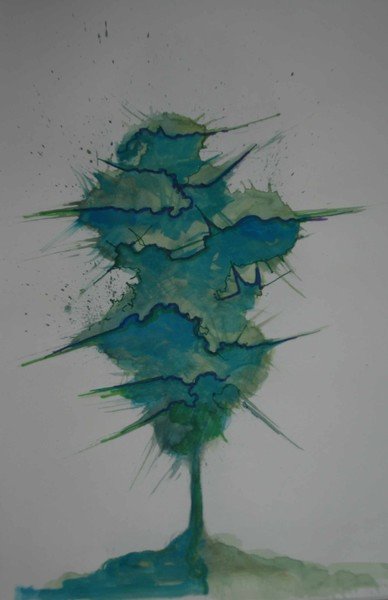 paint splatter tree