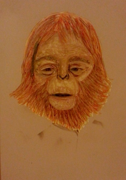 Dr. Zaius altered photograph