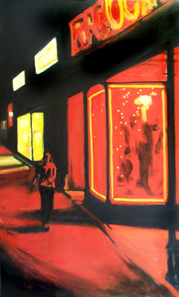 Washington Street in Red