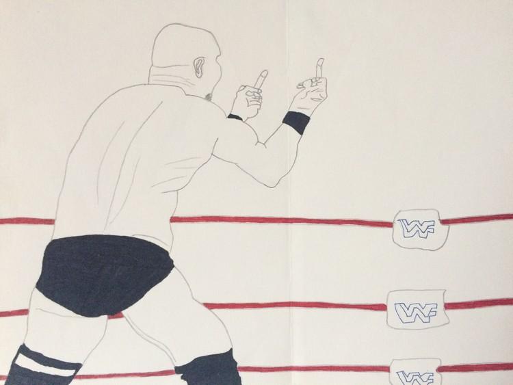 WWE stone cold Steve Austin sketch