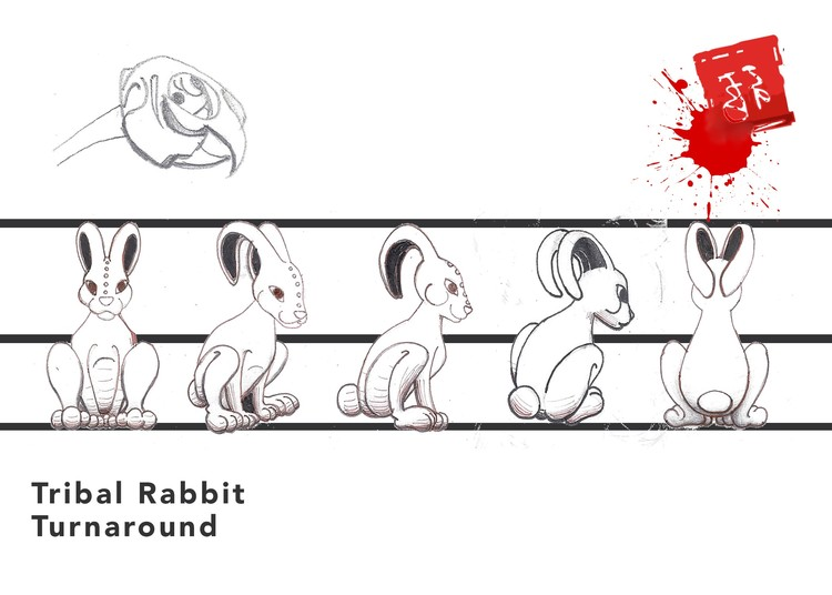 Tribal Rabbit Turnaround