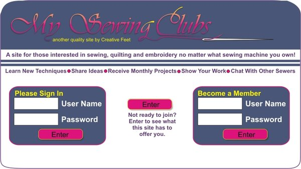 My Sewing Clubs Index page
